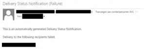 fail delivery